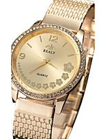 Damen Modeuhr Armbanduhr Quartz Legierung Band Cool Bequem Luxuriös Elegante Silber Gold Rotgold