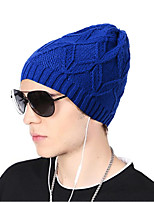 Unisex Acrylic Beanie/Slouchy Floppy Hat,Hat Pattern Headwear Casual Chic & Modern Casual/Daily Keep Warm Knitwear Solid Fall Winter Pure