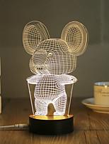 1 Set, Popular Home Acrylic 3D Night Light LED Table Lamp USB Mood Lamp Gifts, Koala