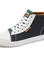 Men's Shoes PU Spring Fall Light Soles Sneakers Lace-up For Casual Black/Red Green Dark Blue