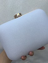 Women Bags All Seasons leatherette Evening Bag Crystal Detailing for Wedding Event/Party Gold White Black Blushing Pink