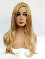 Women Synthetic Wig Capless Long Straight Blonde Side Part Natural Wigs Costume Wig