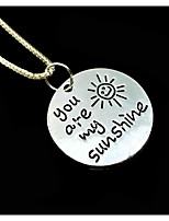 Men's Women's Pendant Necklaces Circle Sun Alloy Love Friendship Jewelry For Gift Daily