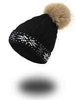 Unisex Hut Muster Kopfbedeckung Freizeit Schick & Modern Lässig/Alltäglich warm halten Strickware Herbst Winter Acryl Beanie Schlapphut,
