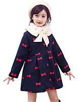 Girls' Embroidered Jacket & Coat,Polyester Winter All Seasons Long Sleeve