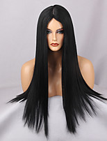 Women Synthetic Wig Capless Long Very Long Straight Black Middle Part Natural Wigs Costume Wig