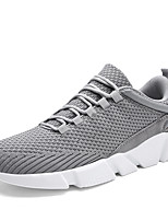 Men's Shoes Breathable Mesh Spring Fall Comfort Sneakers Lace-up For Casual Office & Career Gray Black