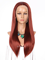 Women Synthetic Wig Lace Front Long Straight Natural Hairline Natural Wigs Costume Wig
