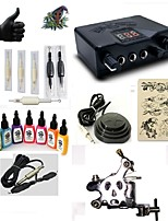 starter tattoo kits 1 steel machine liner & shader LED power supply Complete Kit