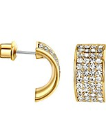 Women's Hoop Earrings AAA Cubic Zirconia Bohemian Gold Plated Jewelry For Party Birthday Daily Office & Career