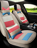 Flax Mosaic Rainbow Stripes Car Seat Cushion Seat Cover Seat Four Seasons General Surrounded By A Five Seat-Beige
