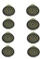 8 pezzi 3W GU10 Faretti LED 48 leds SMD 2835 Decorativo Bianco caldo Luce fredda 500lm 3000-7000K AC 12V