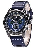 Men's Dress Watch Fashion Watch Wrist watch Chinese Quartz PU Band Casual Black Blue Red Brown