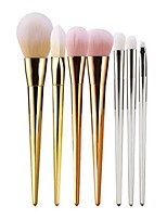 7 pcs Makeup Brush Set Blush Brush Eyeshadow Brush Brow Brush Eyeliner Brush Eyelash Brush Fan Brush Powder Brush Foundation Brush Nylon