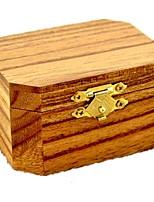 Music Box Wind-up Toy Toys Octangular Wood Pieces Unisex Birthday Gift