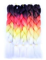 Jumbo Hair Braid Havana Crochet Ombre Braiding Hair 100% kanekalon hair 100% Kanekalon Hair Green Blue White Purple Brown 24