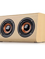 W7 Mini Style Bluetooth Bluetooth 2.1 3.5mm AUX Bookshelf Speaker Brown Beige