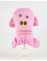 Dog Clothes/Jumpsuit Dog Clothes Casual/Daily Cartoon Blushing Pink Blue Green Red Coffee