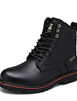 Men's Oxfords Snow Boots Combat Boots Fall Winter Real Leather Leather Casual Outdoor Office & Career Party & Evening Rivet Lace-up Low