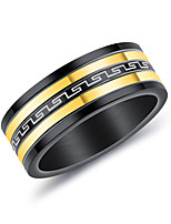 Men's Band Rings Fashion Personalized Titanium Steel Circle Jewelry For Wedding Evening Party