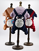 Dog Clothes/Jumpsuit Dog Clothes Casual/Daily Stripe Bronze Red Brown