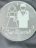 Just Married Glass Coasters - 2pcs/box - Groom and Bride Beter Gifts® Wedding Party Favors