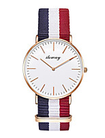 Women's Fashion Watch Quartz Fabric Band White Blue Red