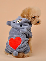Dog Clothes/Jumpsuit Dog Clothes Casual/Daily Cartoon Khaki Gray