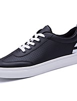 Men's Shoes PU Fall Winter Comfort Sneakers Lace-up For Casual Red Black White