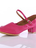 Women's Modern Customized Materials Heel Outdoor Low Heel Black Fuchsia Red Customizable