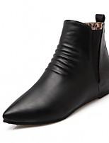 Femme Chaussures Similicuir Automne Hiver Confort Nouveauté Botillons Bottes Talon Compensé Bout pointu Bottine/Demi Botte Points Polka