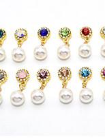 12 Chiodo decorazione di arte strass Perle Cosmetici e trucchi Fantasie design per manicure
