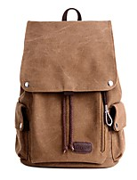 Unisex Bags All Seasons Canvas Backpack Pockets Zipper for Casual Outdoor Brown Green Black Gray Khaki