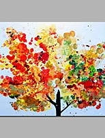 Dipinta a mano Astratto Orizzontale,Artistico Stile naturalistico Compleanno Moderno/Contemporaneo Ufficio Fantastico Natale Capodanno Un