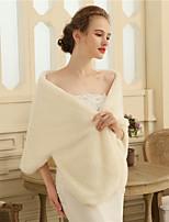 Faux Fur Wedding Party / Evening Women's Wrap With Fur Shawls