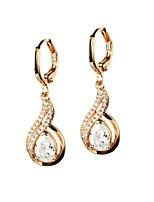 Women's Drop Earrings Rhinestone AAA Cubic Zirconia Classic Elegant Rhinestone Titanium Steel Circle Jewelry For Wedding Evening Party