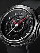 Herrn Sportuhr Modeuhr Einzigartige kreative Uhr Armbanduhren für den Alltag Chinesisch Quartz Wasserdicht Caucho Band Bettelarmband