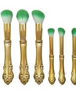 6pcs Contour Brush Makeup Brush Set Blush Brush Eyeshadow Brush Lip Brush Eyelash Comb (Flat) Concealer Brush Powder Brush Foundation