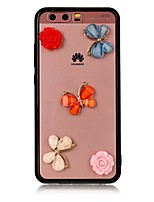 Case For Huawei P10 Plus P10 Transparent Back Cover Butterfly 3D Cartoon Flower Hard Acrylic for Huawei P10 Plus Huawei P10 Lite Huawei