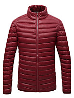 Men's Padded Coat,Simple Street chic Active Sports Plus Size Going out Casual/Daily Solid-Cotton Polyester Polyester Polypropylene Long