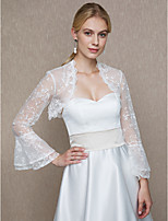 Lace Wedding Party/ Evening Women's Wrap With Lace Cascading Ruffles Shrugs