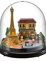 DIY KIT Balls Music Box Jigsaw Puzzle Toys Dome House Cartoon Plastics Glass 1 Pieces Not Specified Birthday Valentine's Day Gift