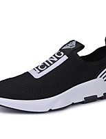 Men's Shoes Tulle Spring Fall Comfort Athletic Shoes For Outdoor Black/White Black/Silver