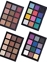 12 Lidschattenpalette Trocken Matt Schimmer Mineral Lidschatten-Palette Alltag Make-up Halloween Make-up Party Make-up Feen Makeup Cateye