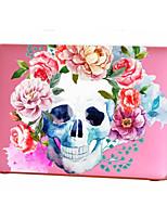cheap -MacBook Case for MacBook Air 13-inch Macbook Air 11-inch MacBook Pro 13-inch with Retina display Flower Skull TPU Material