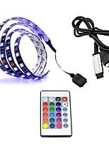 Недорогие -0.5м RGB ленты 30 светодиоды 5050 SMD RGB Пульт управления / Можно резать / Самоклеющиеся 5 V 1 комплект / Меняет цвета
