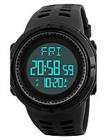 SKMEI Herrn Sportuhr Armbanduhr Digitaluhr Japanisch digital LED Kalender Chronograph Wasserdicht Duale Zeitzonen Alarm leuchtend