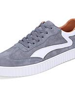 Homme Chaussures Polyuréthane Printemps Automne Confort Semelles Légères Basket Lacet Pour Décontracté Noir Gris Bleu