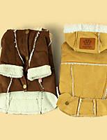 Hund Mäntel Hundekleidung Lässig/Alltäglich warm halten Britisch Gelb Braun