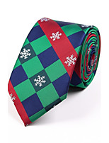 Men's Polyester Neck Tie,Grid Jacquard All Seasons